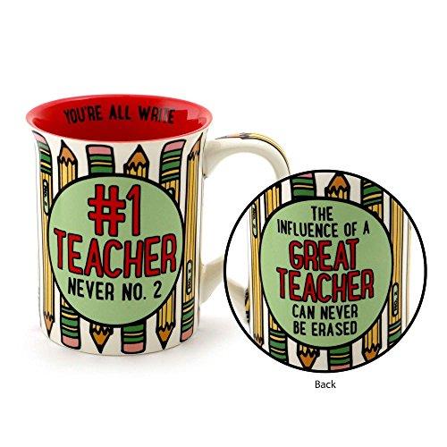 "Our Name is Mud ""1 Teacher"" Stoneware Coffee Mug 16 oz"