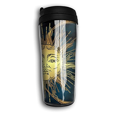 Interesting Sun And Moon Vacuum Insulated Leak Flexible 8oz Coffee Cup Travel Mug Travel Cup With Curve