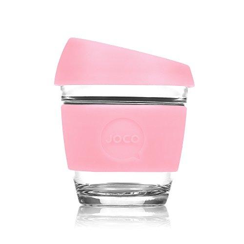 JOCO Glass Reusable 8oz Coffee Cup Strawberry