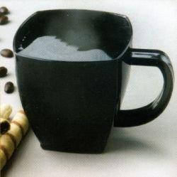 Squares Plastic 8oz Coffee Cups Black 8 Per Pack