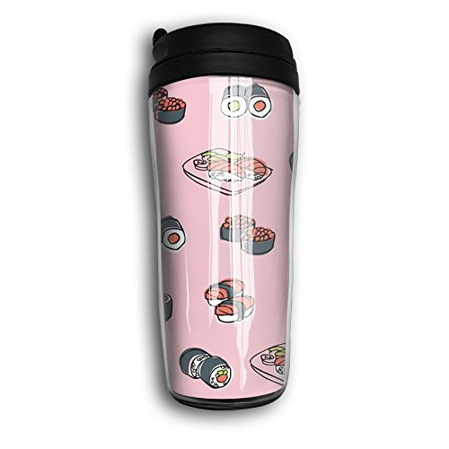 Sushi Stainless Steel Vacuum Stay Hot Leak Proof Funny Art 8oz Coffee Cup Travel Mug Travel Cup With Lids Curve For School Camping