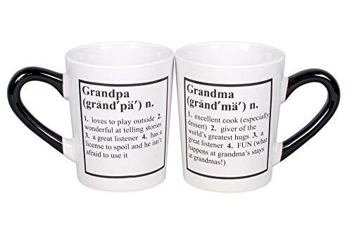 Grandma Grandpa 20 Oz Ceramic Coffee Mugs Gift Set