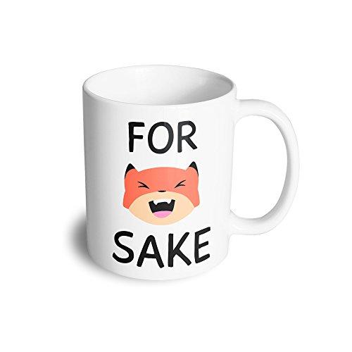 For Fox Sake Funny Cute Swearing Fox Face Slogan Wild Cool Ceramic Mug