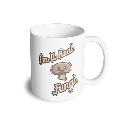 Pun Ceramic Mug Im A Real Fungi Mushroom Funny Slogan Cute Silly Fun Guy
