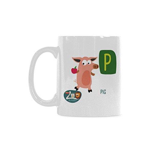 Sweety Love Store-Cute Zoo Alphabet Coffee MugsWhite Heathly Ceramic Mugs323W x 374H Capacity 11 OZ