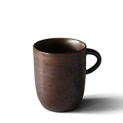 Handmade stoneware coffee mug set simple mug teacup-C