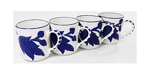 Le Souk Ceramique JA53 Stoneware Coffee Mugs Set of 4 Jinane