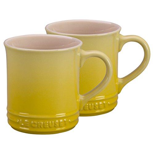 Le Creuset Soleil Yellow Stoneware 14 Ounce Mug Set of 2